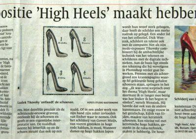 Artikel Gooi- en Eemlander over expositie 'High Heels'